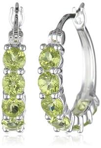 """Sterling Silver Genuine Hoop Earrings (0.8"""" Diameter) by PAJ, Inc"""