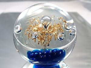 Murano Design Mouth Blown Glass Art Crystal Bubble Ball Handmade Art Glass Paperweight Pw-319