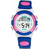 Coolboss Children Watch Outdoors Sports Kids Boys Girls LED Digital Alarm Stopwatch Waterproof Wristwatch Children... - B01MDUUWKF