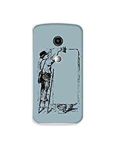 Motorola Moto E2 nkt-04 (21) Mobile Case by Mott2 - Black and White - Old Shades (Limited Time Offers,Please Check the Details Below)