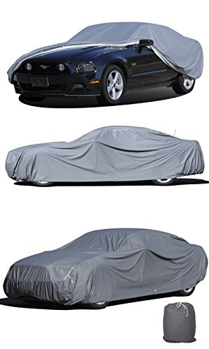 OxGord® Executive Storm-Proof Car Cover - 100% Water-Proof 7 Layers -Developed for Any & All Conditions - Ready-Fit / Semi Custom - Fits up to 204 Inches