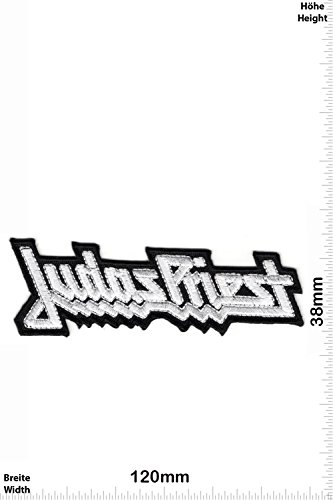 Patch - Judas Priest - silver - MusicPatch - Rock - Chaleco - toppa - applicazione - Ricamato termo-adesivo - Give Away