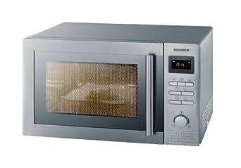 Severin MW 7848 Mikrowelle mit Grill und Umluftfunktion, Edelstahl-gebürstet / 900 Watt / Grill 1400 Watt / 25 L Garraum