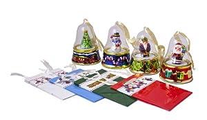 Mr. Christmas Bell Porcelain Music Boxes-Set of 4
