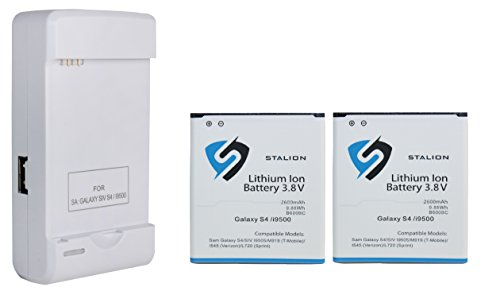 Stalion Power [Lifetime Warranty] 2X Replacement Li-Ion 2600Mah Batteries With [Stalion Power Travel Charger] For Samsung Galaxy S4 S Iv I9500, I9505, M919 (T-Mobile), I545 (Verizon), I337 (At&T), L720 (Sprint), R970 (U.S. Cellular/Metropcs), Not For Gala