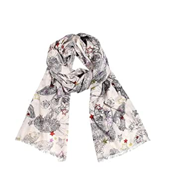 Women's Butterfly Star Dream Soft Natural Cotton Fashion Scarf / Shawl / Wrap