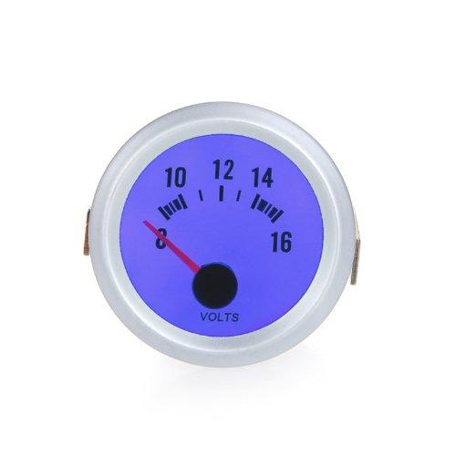 """Docooler Voltage Meter Gauge Voltmeter For Auto Car 2"""" 52Mm 8~16V Blue Led Light"""