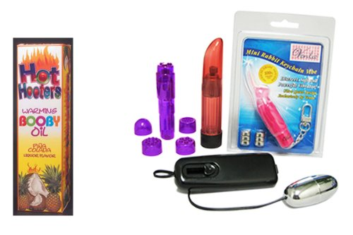 Hot Hooters Oil-Strawberry Bundle - Adult Toy Sex Kit