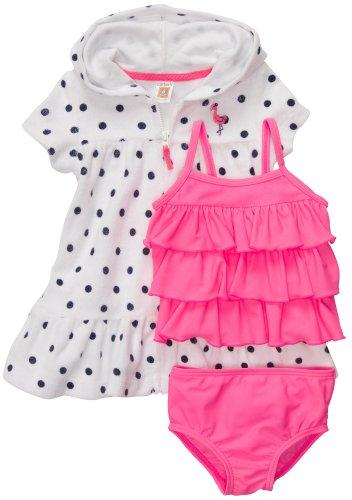 Carter'S Flamingo Collection Girls 3-Piece Swim Set (Nb - 24M) (6 Months) front-161551