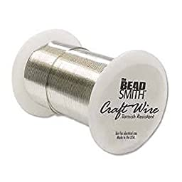 28 Gauge 120 Ft. Bright Silver Craft Wire Non Tarnish 36.5 Meters Wrapping Craft