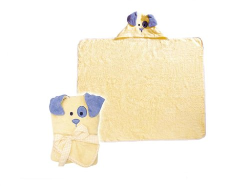 Puppy Dog Hooded Baby Bath Towel Robe -- Suitable from Birth 0 +