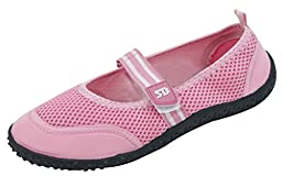 Brand New Women\'s Slip-On Water Shoes With Velcro Strap Size 8 Pink
