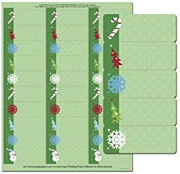 Holiday Icons Address Labels - 150 Labels (Label Size is 1in.x2 5/8in.)