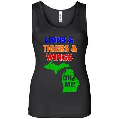 Lions Tigers Wings Oh MI Women's Tank Top