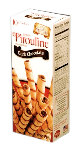 Pirouline Rolled Wafers, Dark Chocolate, 3.25-Ounce
