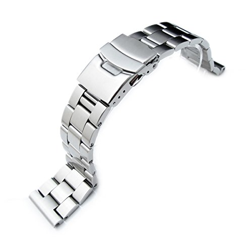 22mm-316L-Solid-Stainless-Steel-Oyster-Straight-End-Watch-Bracelet