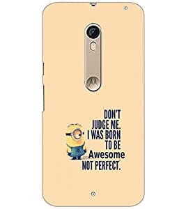PrintDhaba Quote D-2257 Back Case Cover for MOTOROLA MOTO X PURE EDITION (Multi-Coloured)