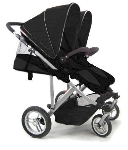 Stroll Air My Duo Double Twin Stroller Black
