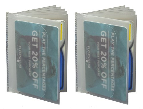 SET of 2 - 6 Page Plastic Wallet Insert for Bifold Billfold or Trifolds Top Load (Target Wallet compare prices)
