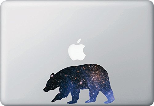 Cosmic Bear - Design 1 - Contour Cut and Printed Laptop / Macbook Vinyl Decal © YYDC. (6