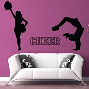 Cheerleader wall decal set vinyl sticker for Cheerleader wall mural