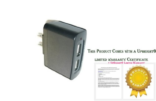 Upbright® New Dual Usb Port Ac Adapter Wall Charger For Emerson Bluetooth Wireless Headset Em228 Em509 Em-510 Em511 (Excluding Usb Cable)