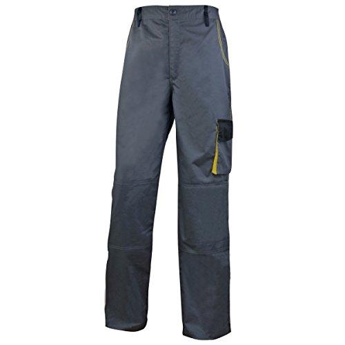 Delta Plus - D-Mach - Pantaloni da Lavoro - Uomo (L) (Grigio/Giallo)