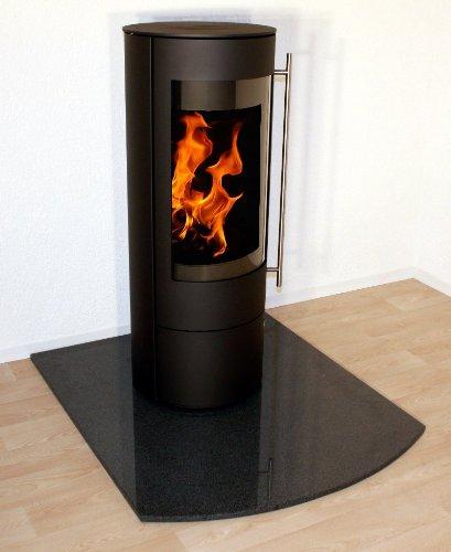 GRANIT-Funkenschutzplatte-Ofenunterlage-Bodenplatte-Segmentbogen-Granit-F09-100-x-120-cm-f-Kaminofen-Pelletofen-Kamin