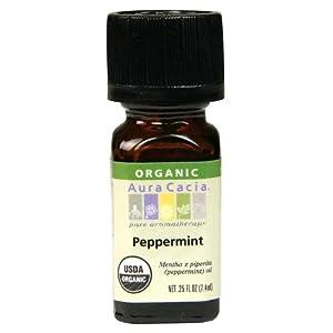 Aura Cacia Organic, Peppermint, 0.25 Fluid Ounce