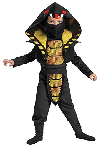 Boys Cobra Ninja Kids Child Fancy Dress Party Halloween Costume