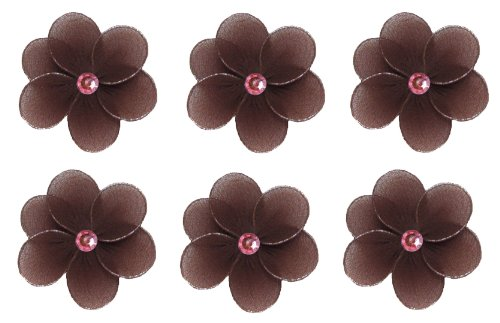 "Flower Decor 2"" Brown Pink Mini (X-Small) Flowers Daisy Daisies 6Pc Set. Decorate Baby Nursery Bedroom, Girls Room Ceiling Wall Decor, Wedding Birthday Party, Bridal Baby Shower, Bathroom. Decoration Crafts, Scrapbooks, Invitations, Parties front-1027945"