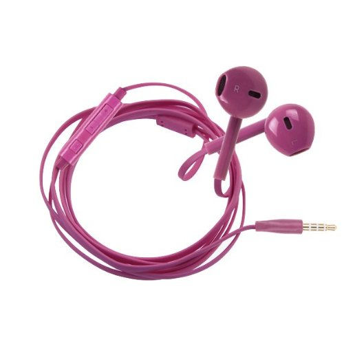 Sanheshun 3.5Mm Plug In-Ear Hands-Free Stereo Headset Headphone Earphone With Volume Control Compatible With Samsung Galaxy S3 S4 S5 Mini Note 2 3 (Rose)