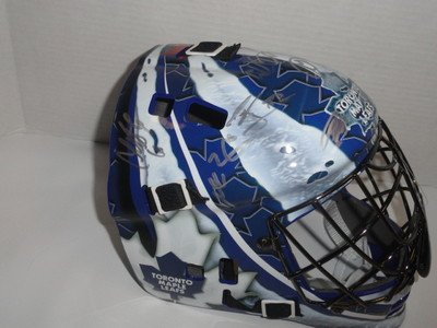 2013 Toronto Maple Leafs Team Signed Goalie Mask Phil Kessel Phaneuf Helmet - Autographed NHL Helmets and Masks