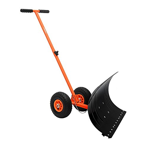 ohuhu-adjustable-wheeled-snow-pusher-heavy-duty-rolling-snow-shovel