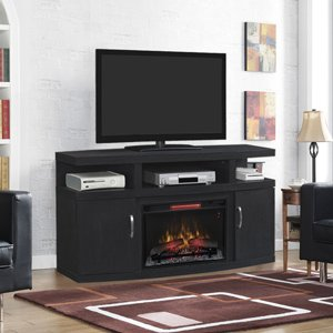 Classicflame Cantilever Infrared Electric Fireplace Media Cabinet In Embossed Oak - 26Mm5508-Nb04