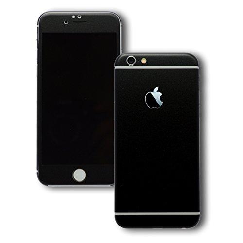 JT Black Matte Front & Back Split Mobile skin for Apple iPhone 6 / iPhone 6 S