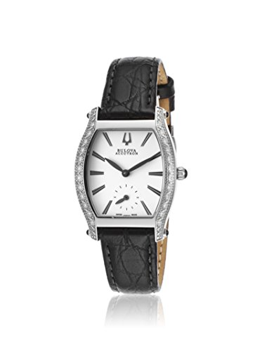 Bulova Women's ACCUTRON-63R004 Black Leather Watch