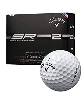 Callaway Speed Regime 2 Golf Balls, White (Pack Of 12) by Callaway