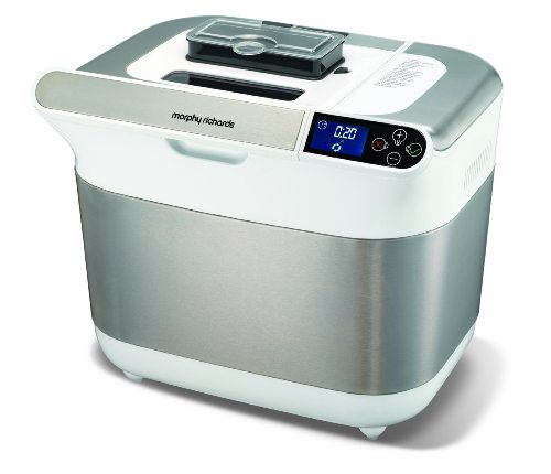 Morphy Richards 48324 Premium Plus Breadmaker, Ice White