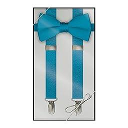Suspender & Bow Tie Set (Kids, Turquoise)