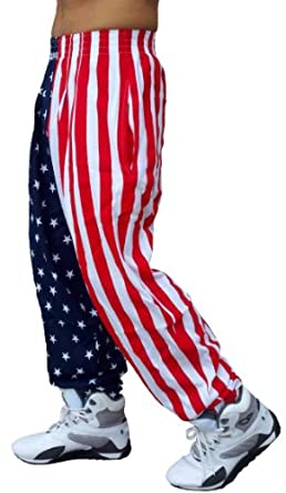 Best Form American Flag Pants (XL, American Flag)