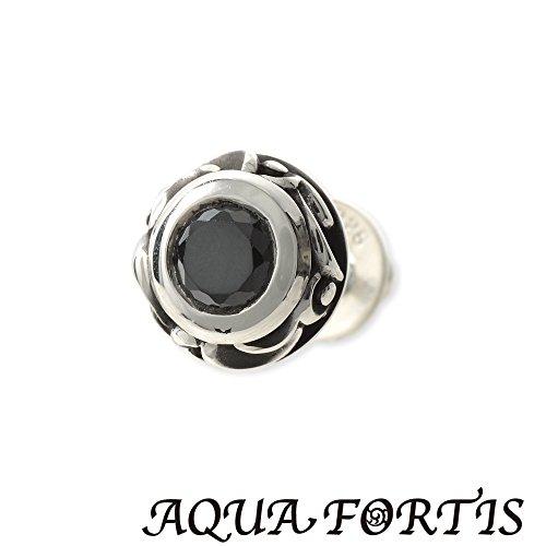 [アクアフォルティス]AQUA FORTIS 【芸能人も着用した注目モデル】 メンズ シルバースタッドピアス FPP-006F-BZ