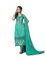 DivyaEmporio Women's Salwar Kameez Suit Dupatta Unstitched Dress Material (Free Size) - B00RXEU9Q6