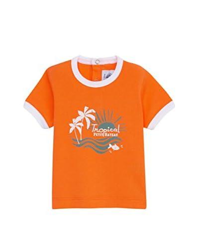 Petit Bateau T-Shirt Manica Corta [Arancione]