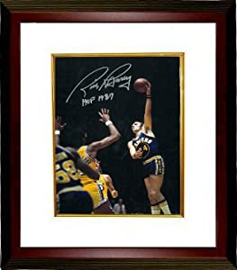 Rick Barry signed Golden State Warriors 16x20 Photo HOF 1987 Custom Framed (hookshot) by Athlon+Sports+Collectibles