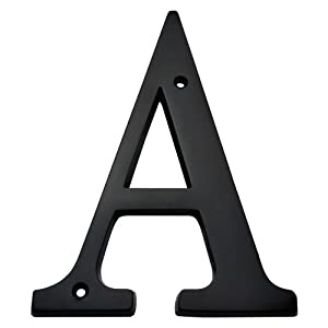 Bolton hardware letter 6 inch solid brass dark oil rubbed for Oil rubbed bronze letters