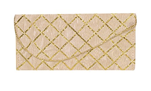 CrazyDeals Fancy Satin Sagan Money Gift Envelope with Golden Lace CREAM