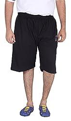 Xmex Men's Cotton Shorts (Sj-004Black-3XL, Black, XXXL)