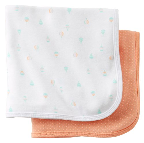 Carters Girls 2pk Swaddle Blanket - 1