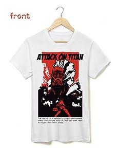 新登場!経典半袖コスプレTシャツ 進撃の巨人Attack on Titan ミカサ・アッカーマン Mikasa Ackerman マンガTシャツ T-shirt マンガ Mサイズ 白 コスプレ衣装 cosplay